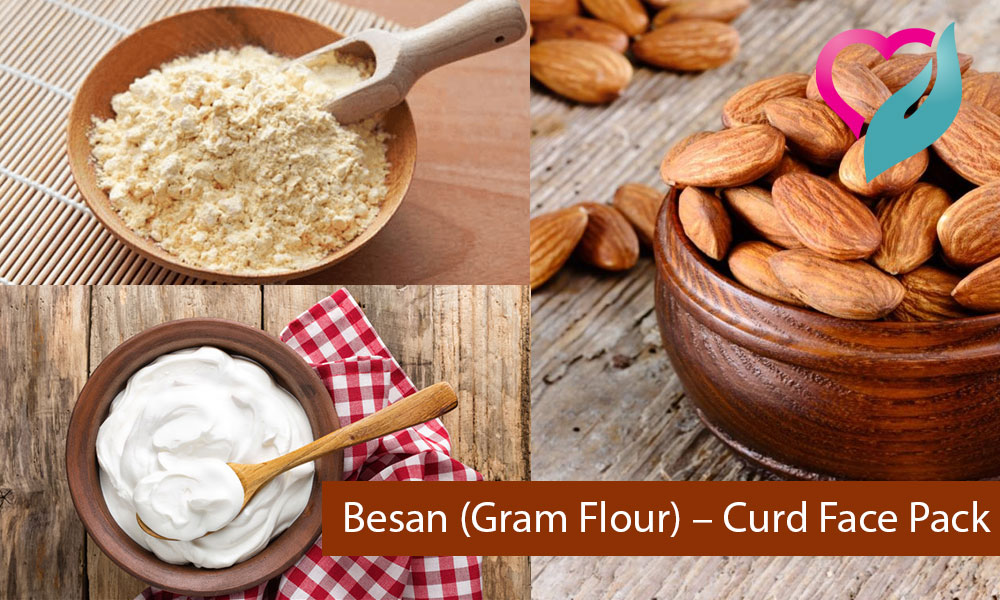 Besan (Gram Flour) - Curd Face Pack